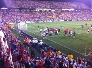 Winning USMNT applaud the crowd